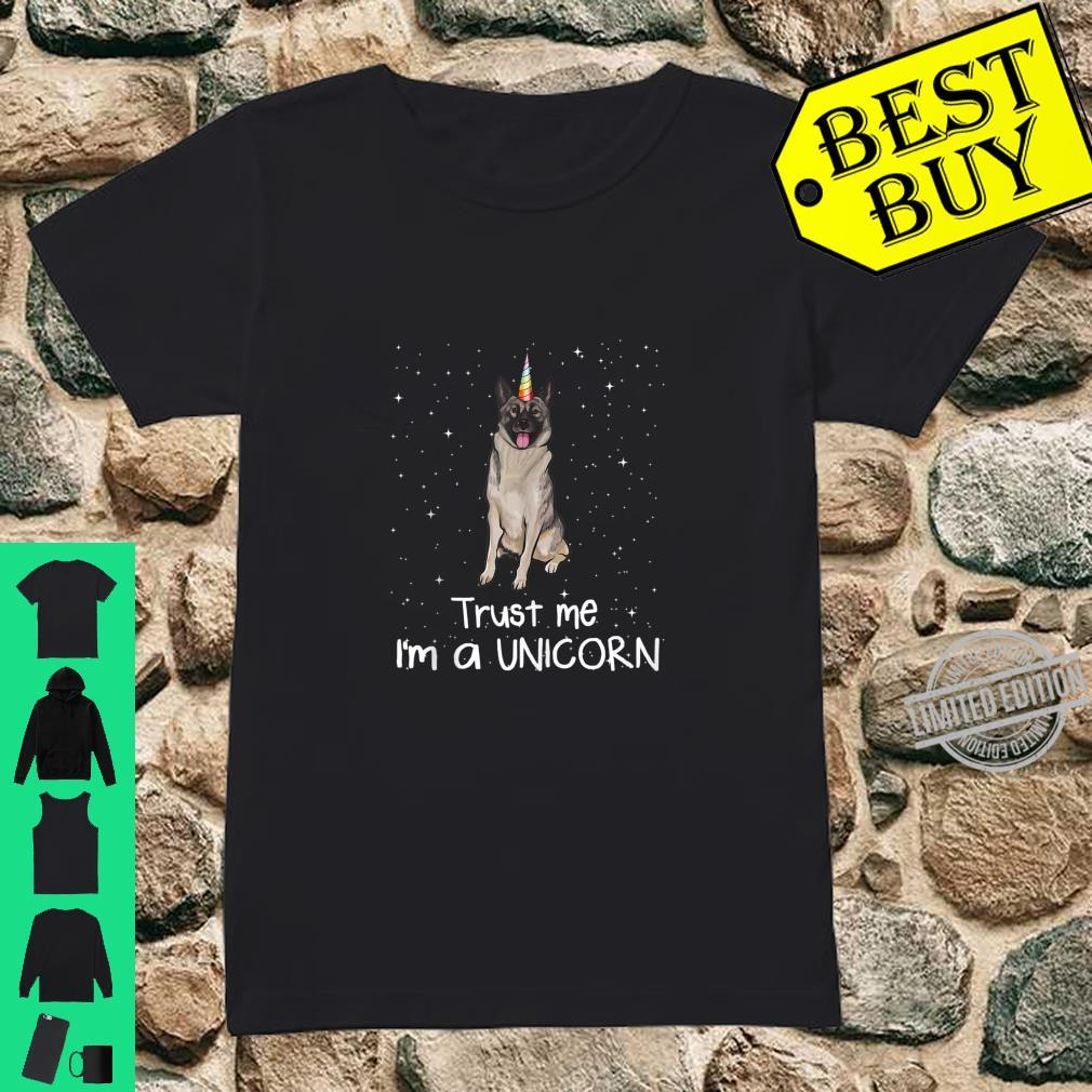 Norwegian Elkhound Trust Me I M A Unicorn Dog Shirt